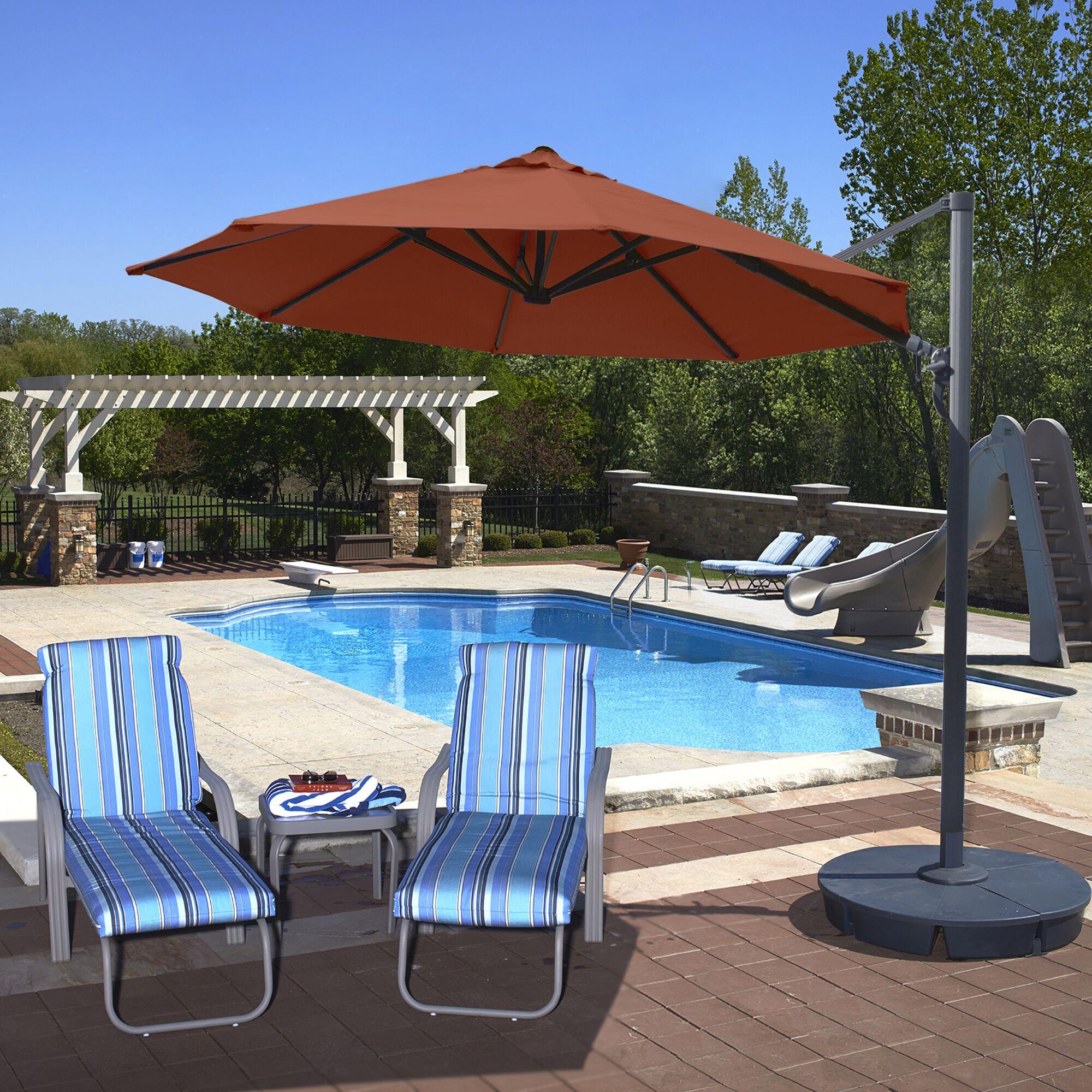 Freeport 11' Cantilever Umbrella Color: Terra Cotta