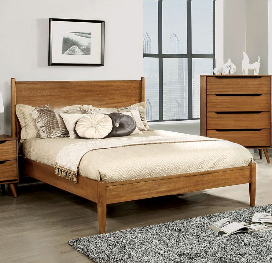 Mason Platform Bed Size: King, Color: Oak