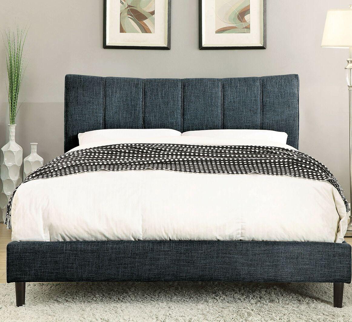 Ennis Upholstered Platform Bed Size: California King, Color: Dark Blue