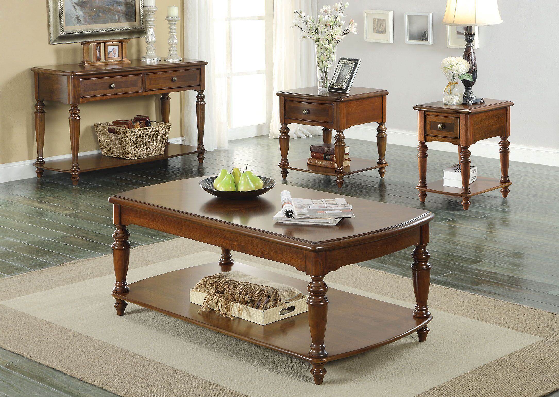 Faris 2 Piece Coffee Table Set