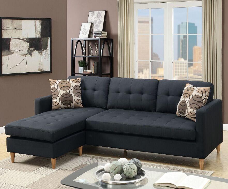 Mendosia Sectional Upholstery: Black