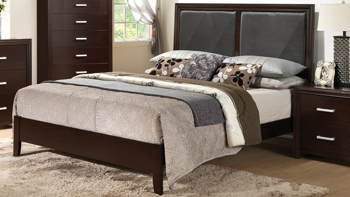 Wen Upholstered Bed Panel Bed Size: California King