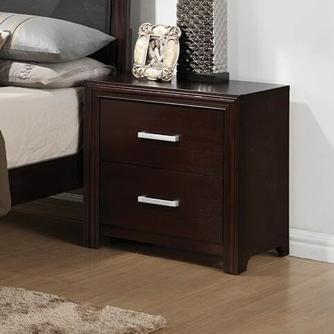 Wen Drawers Included Nightstand