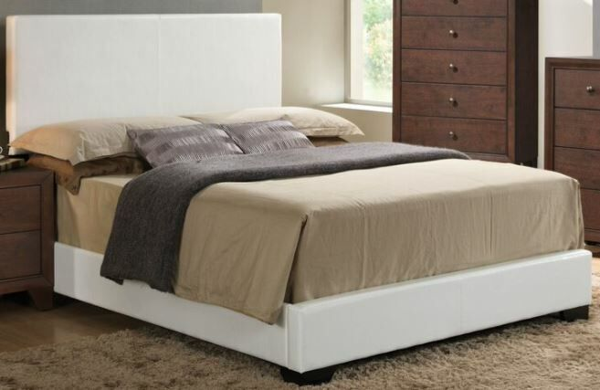 Mccree Upholstered Panel Bed Color: White, Size: King
