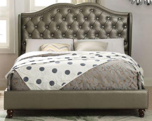 Mathews Queen Upholstered Platform Bed