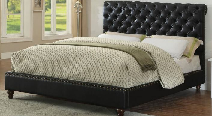 Mathis Queen Upholstered Sleigh Bed