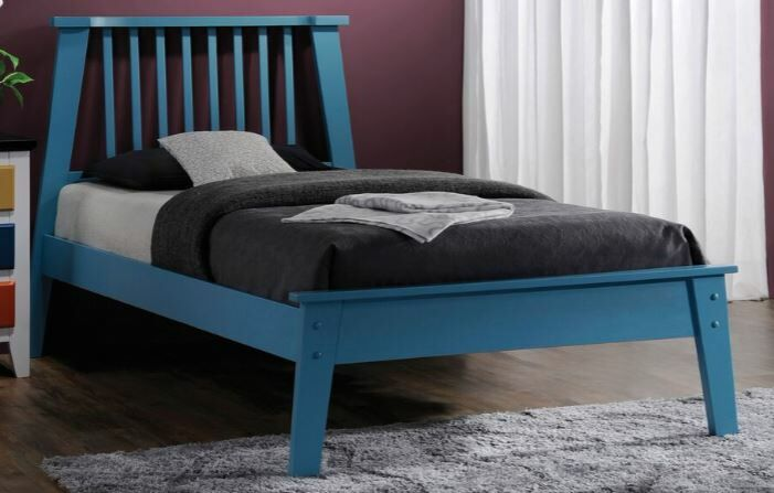 Harter Platform Bed Size: Quen, Color: Blue