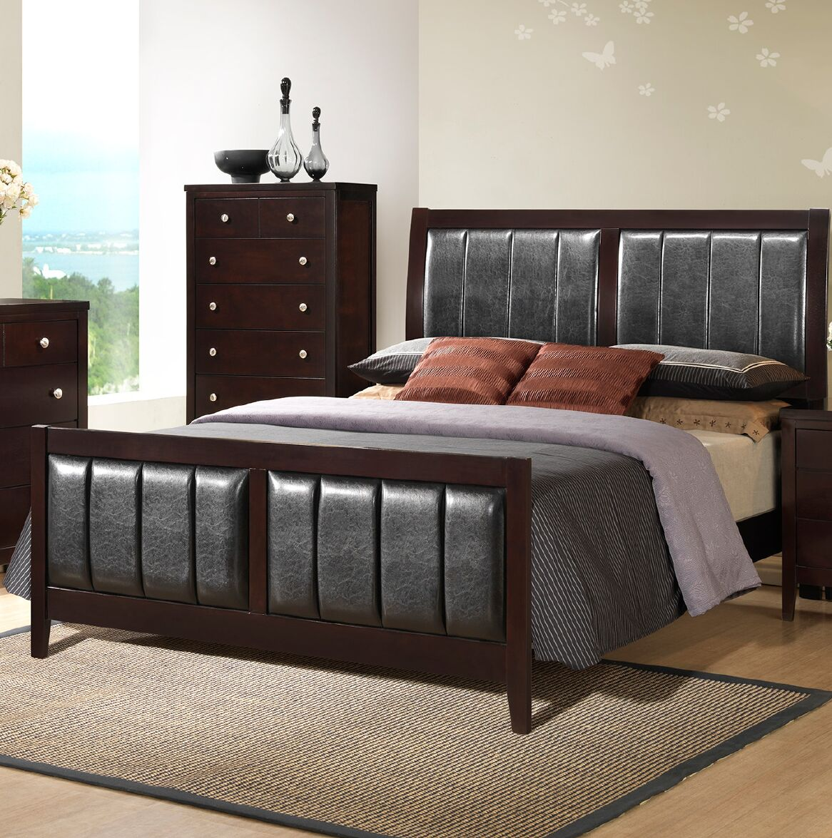 Callicoat Upholstered Panel Bed Size: California King