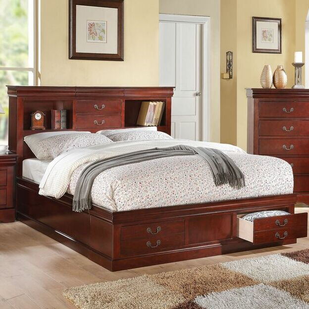 Covertt Platform Bed with Storage Size: California King, Color: Cherry