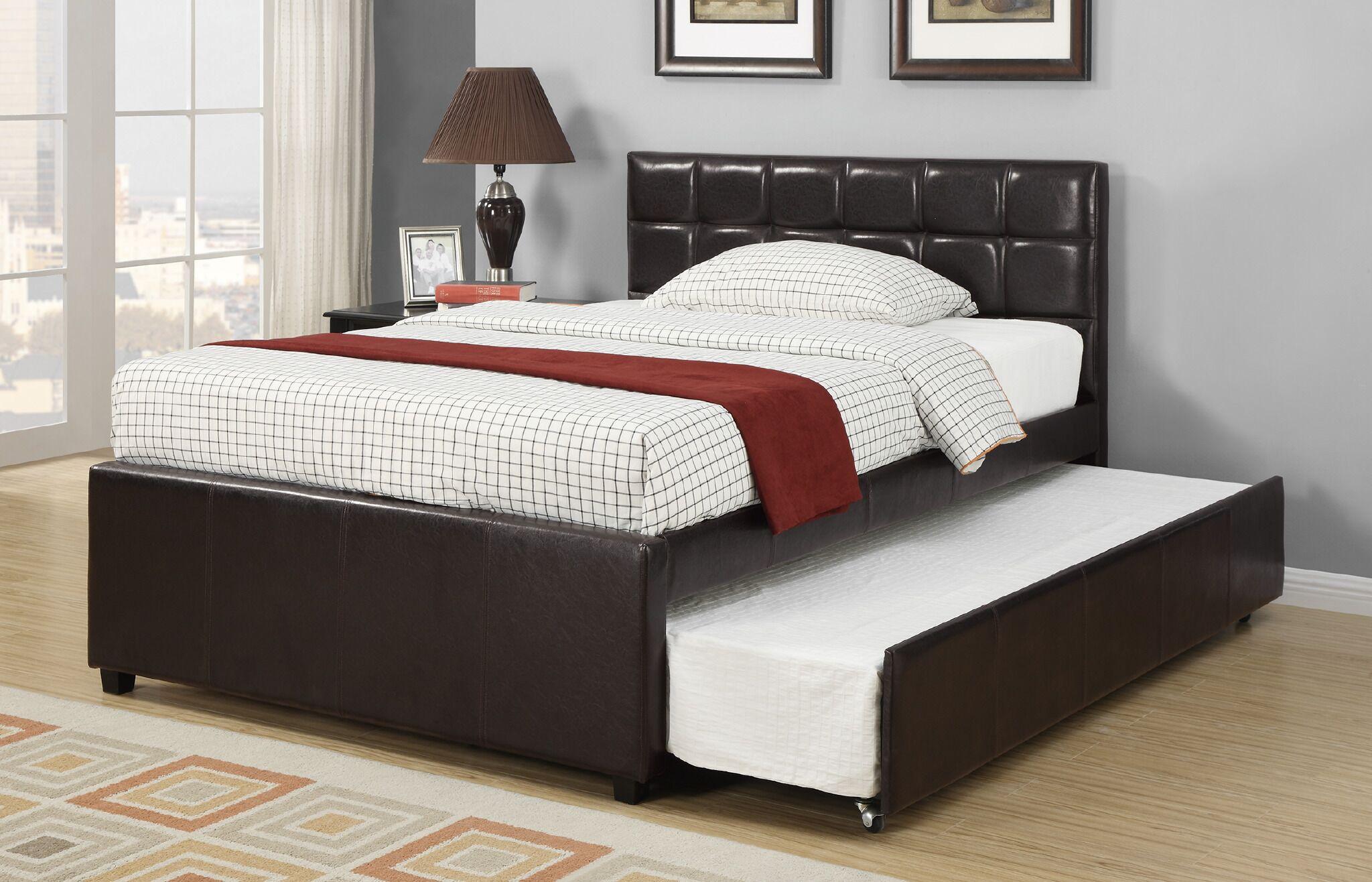 Dupuy Upholstered Platform Bed Size: Twin, Color: Espresso
