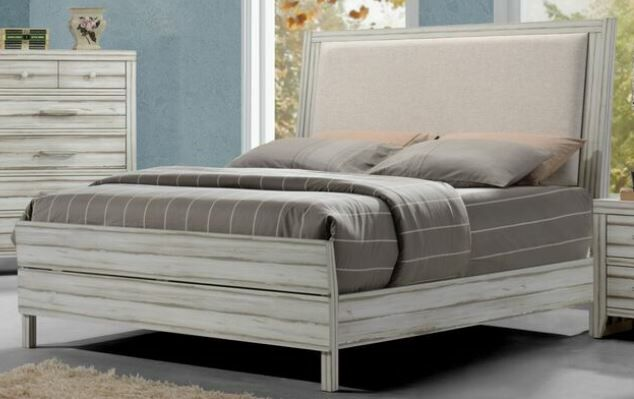 Claude Upholstered Panel Bed Size: California King