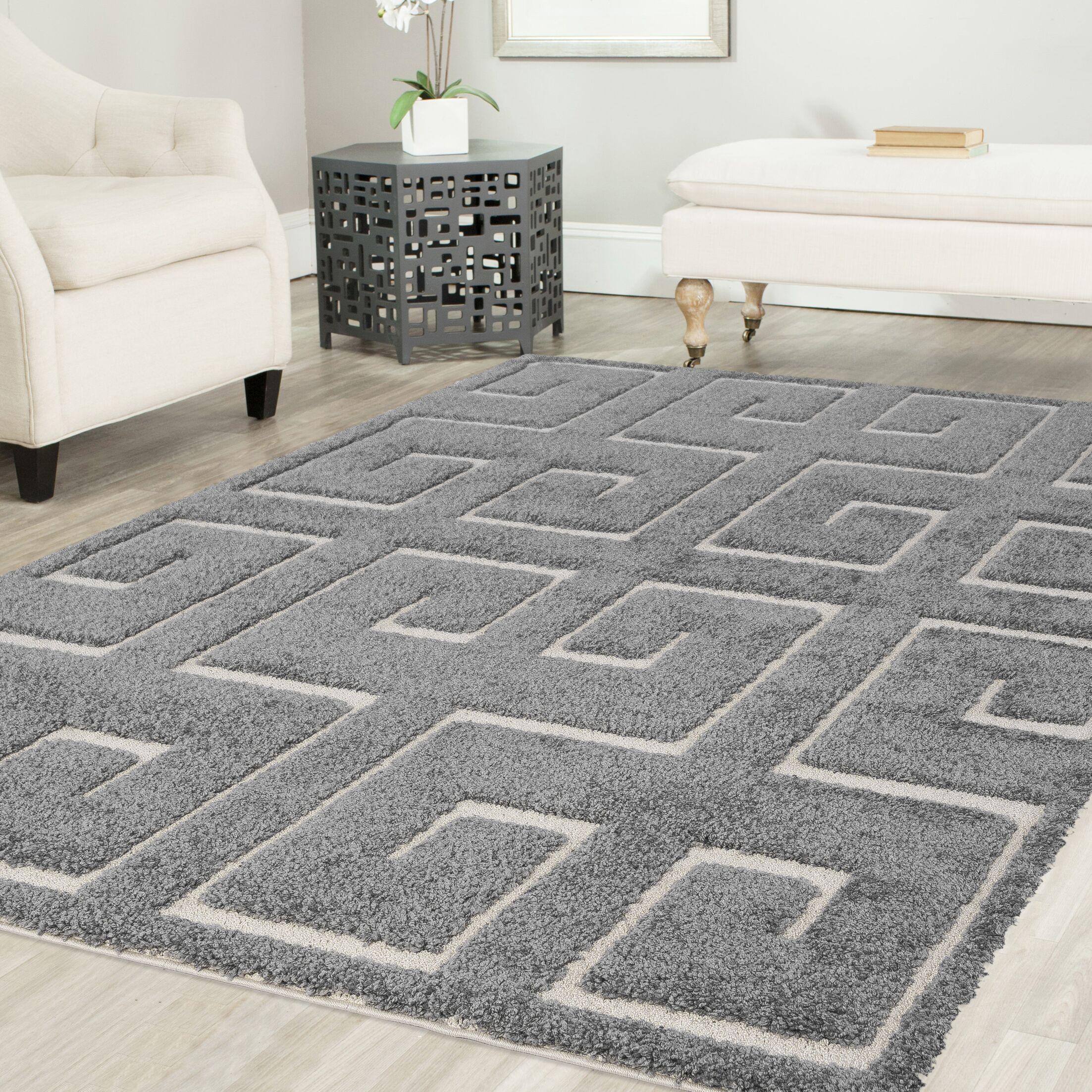 Artz Gray Area Rug Size: 8' x 10'