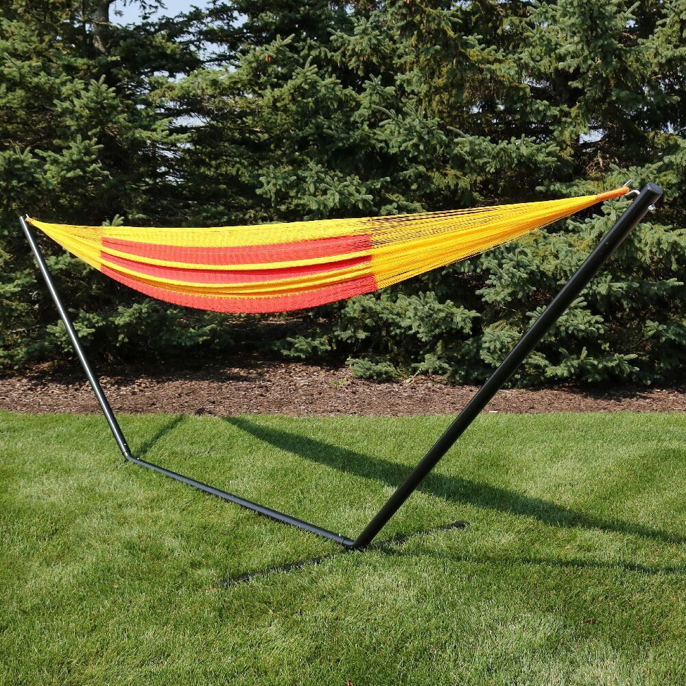 Kelsea Cotton Hammock with Stand Color: Tequila