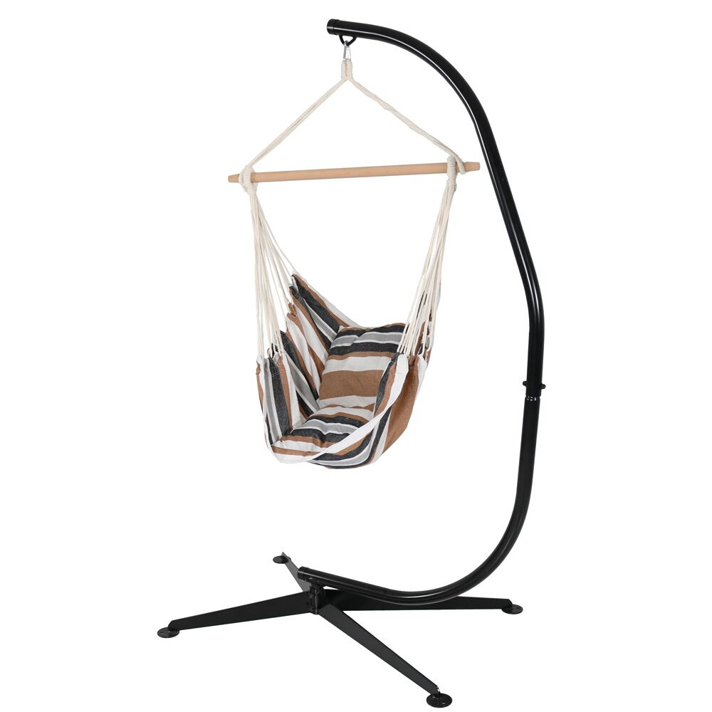 Sisco Chair Hammock with Stand Color: Calming Desert