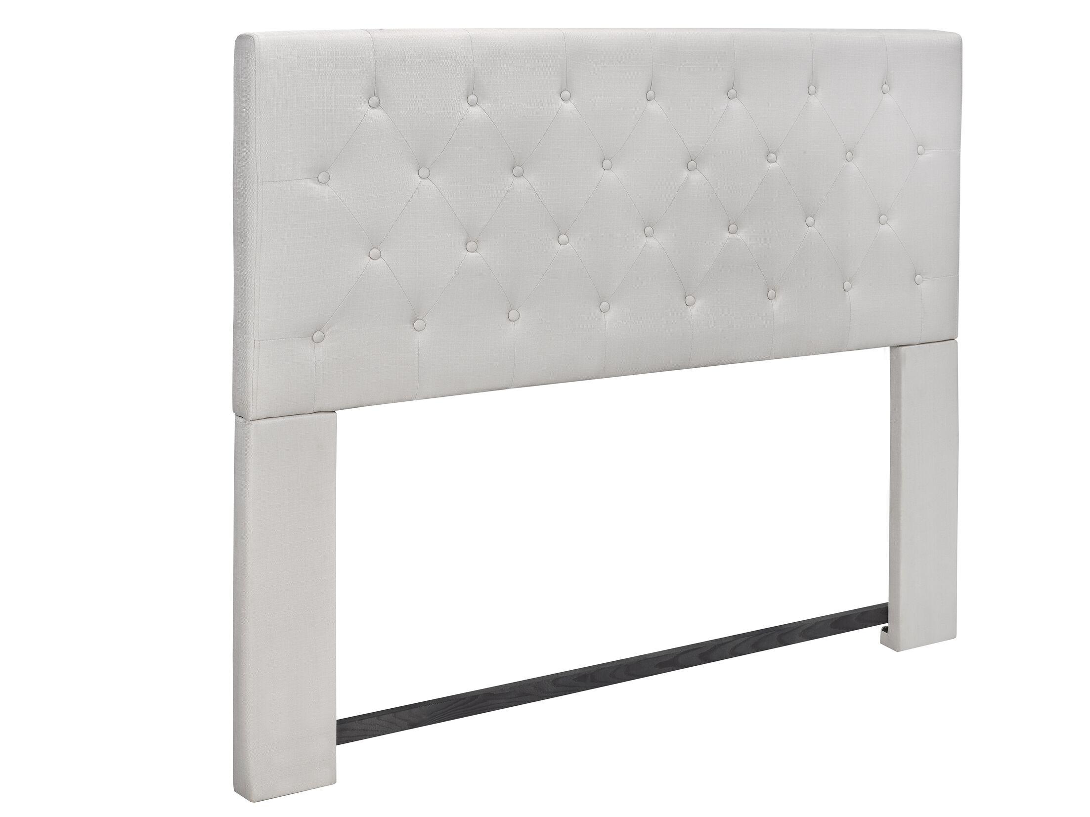 Tufted Upholstered Panel Headboard Upholstery: Beige
