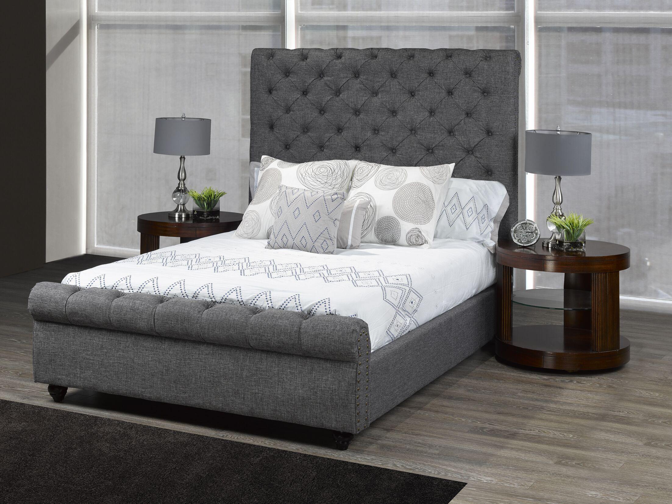 Allistair Upholstered Platform Bed Color: Gray, Size: Queen