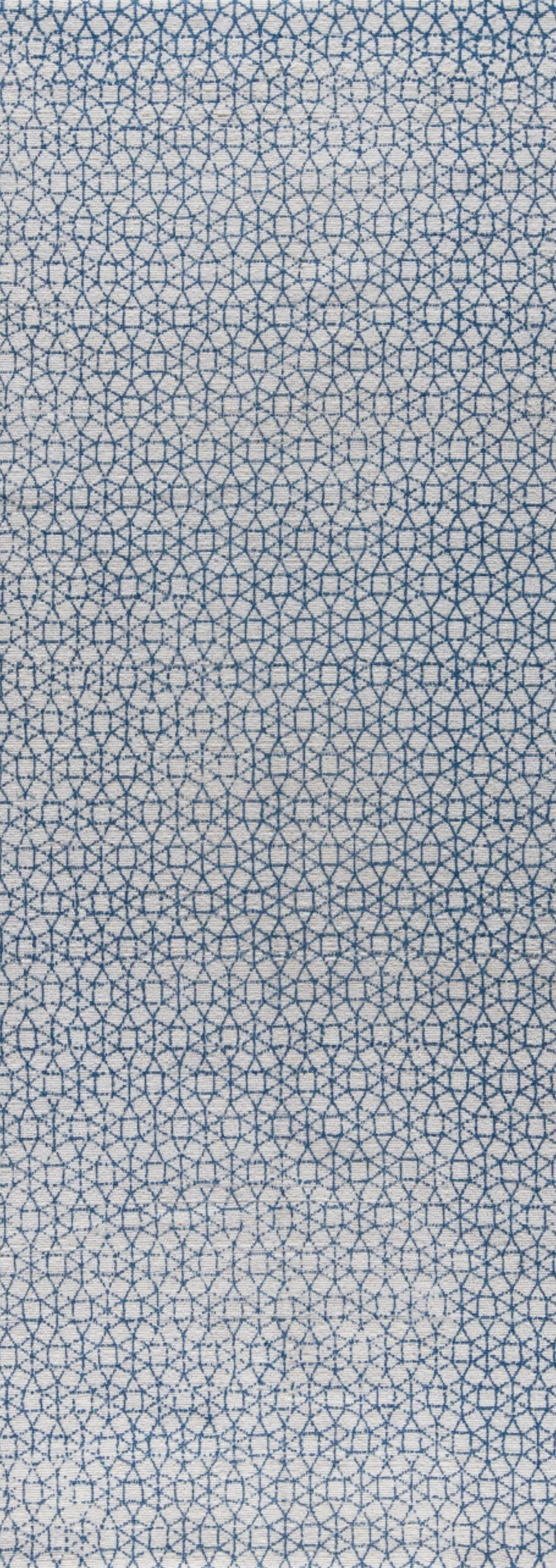 Norman Hand-Woven Blue Area Rug Rug Size: 8' x 10'