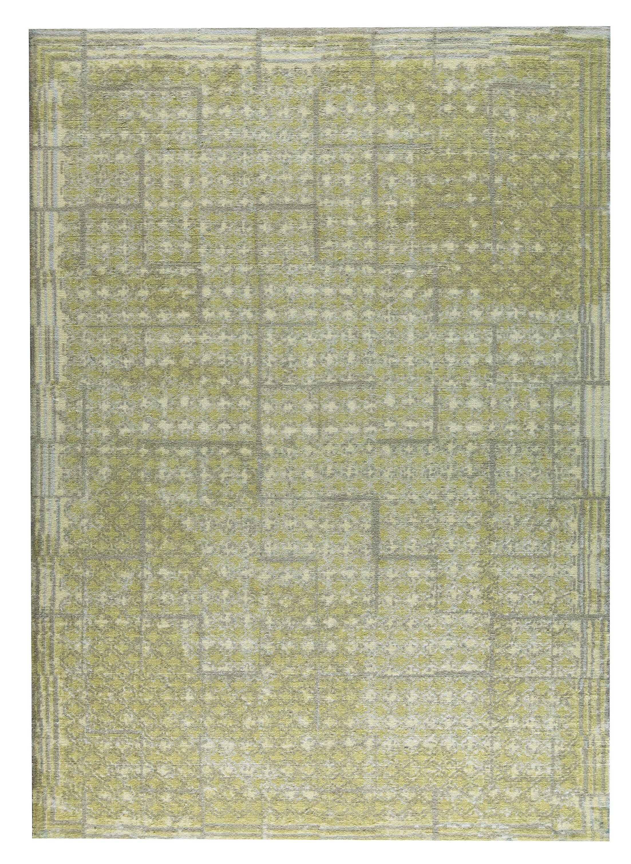 Burbank Hand-Woven Green/Yellow Area Rug Rug Size: 8' x 10'