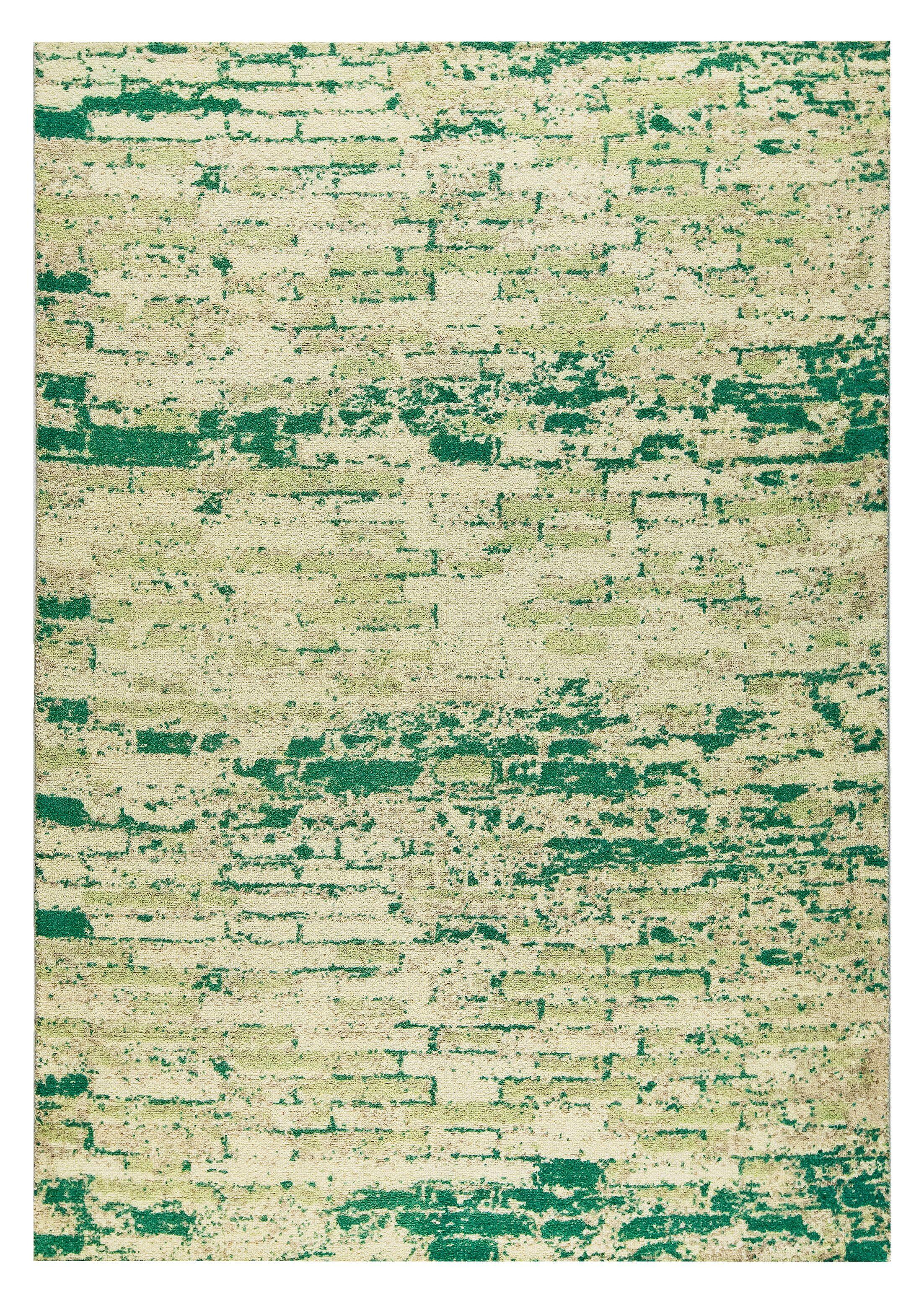 Fargo Hand-Woven Green Area Rug Rug Size: 4' x 6'