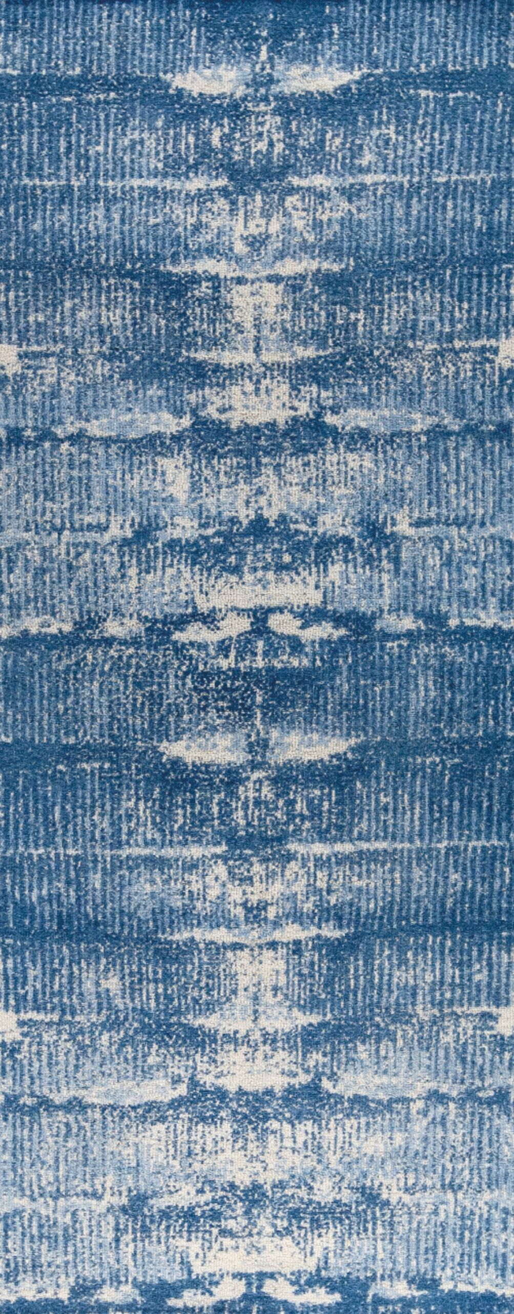 Jackson Hand-Woven Blue Area Rug Rug Size: 5' x 8'