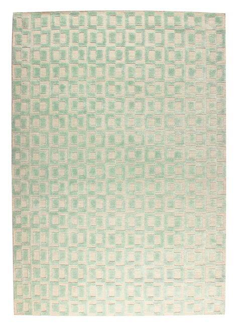 Yonkers Hand-Woven Aqua/Beige Area Rug Rug Size: 5' x 8'