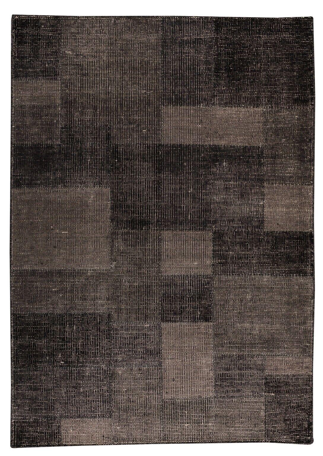 Lina Hand-Woven Gray Area Rug Rug Size: 8'3