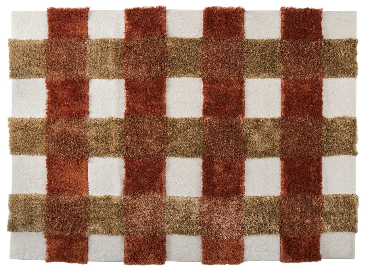 Hogsett Hand-Tufted Rust Area Rug Rug Size: 6'6