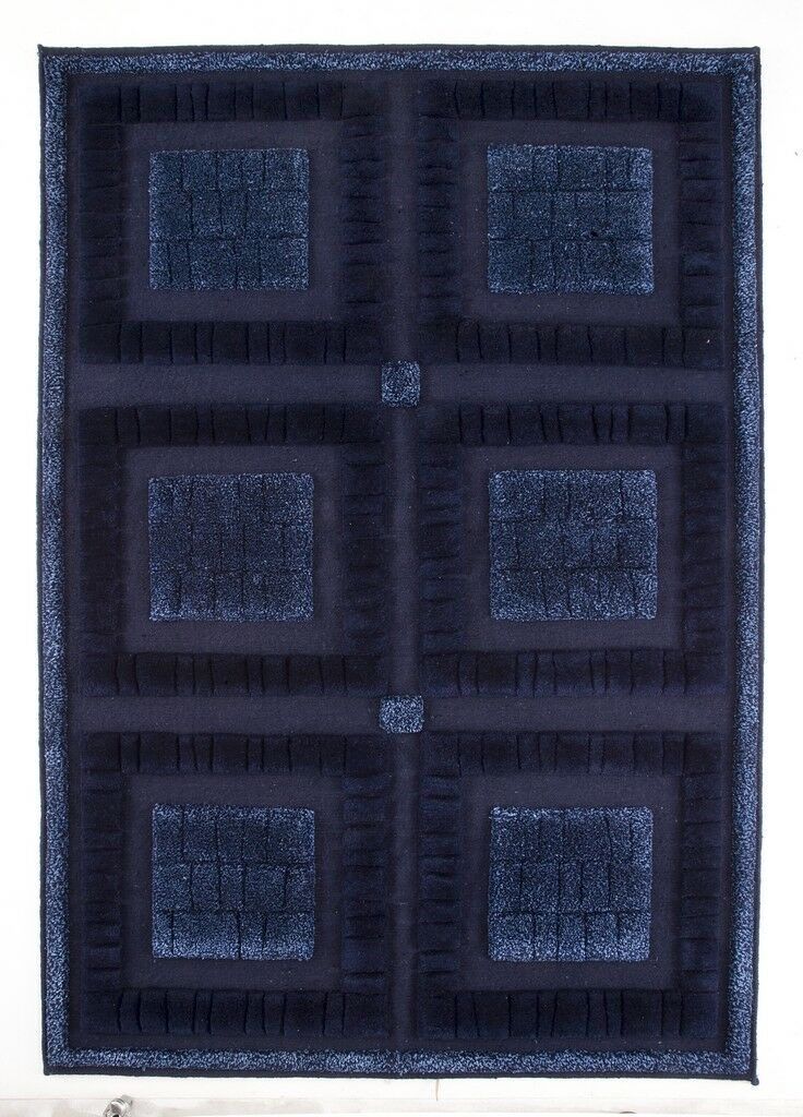Bergamo Hand-Knotted Blue Area Rug Rug Size: 5'6
