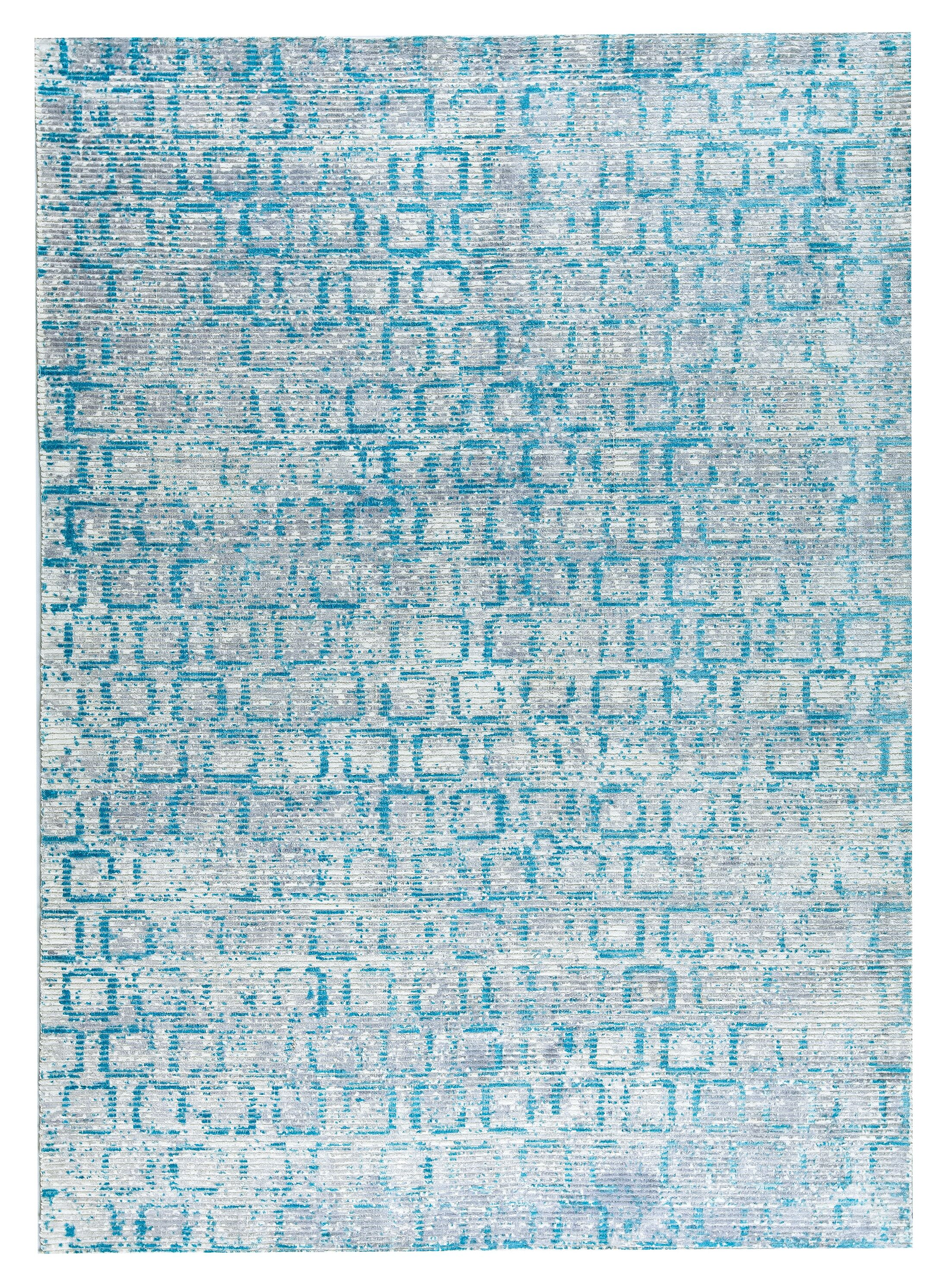 Tampa Hand-Woven Blue Area Rug Rug Size: 5' x 8'