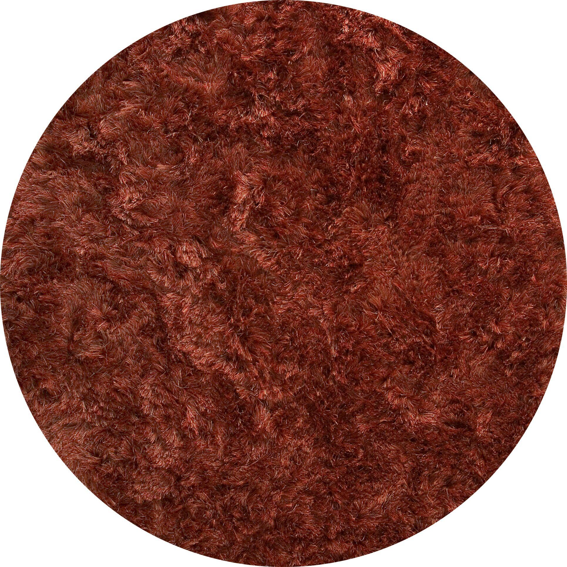 Hoisington Hand-Woven Spice Area Rug Rug Size: Round 6'6