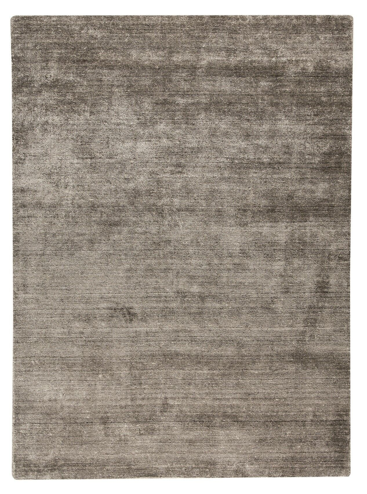 Platinum Hand-Woven Taupe Area Rug Rug Size: 6'6