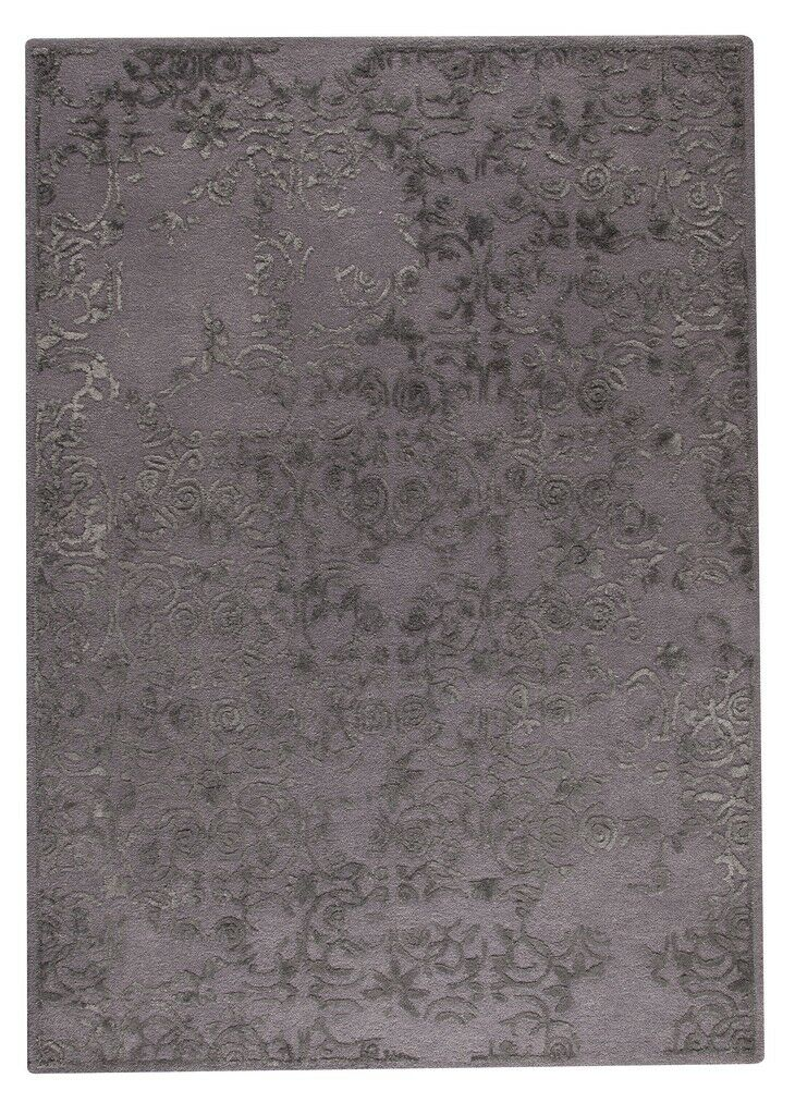 Illusion Hand-Tufted Gray Area Rug Rug Size: 5'6