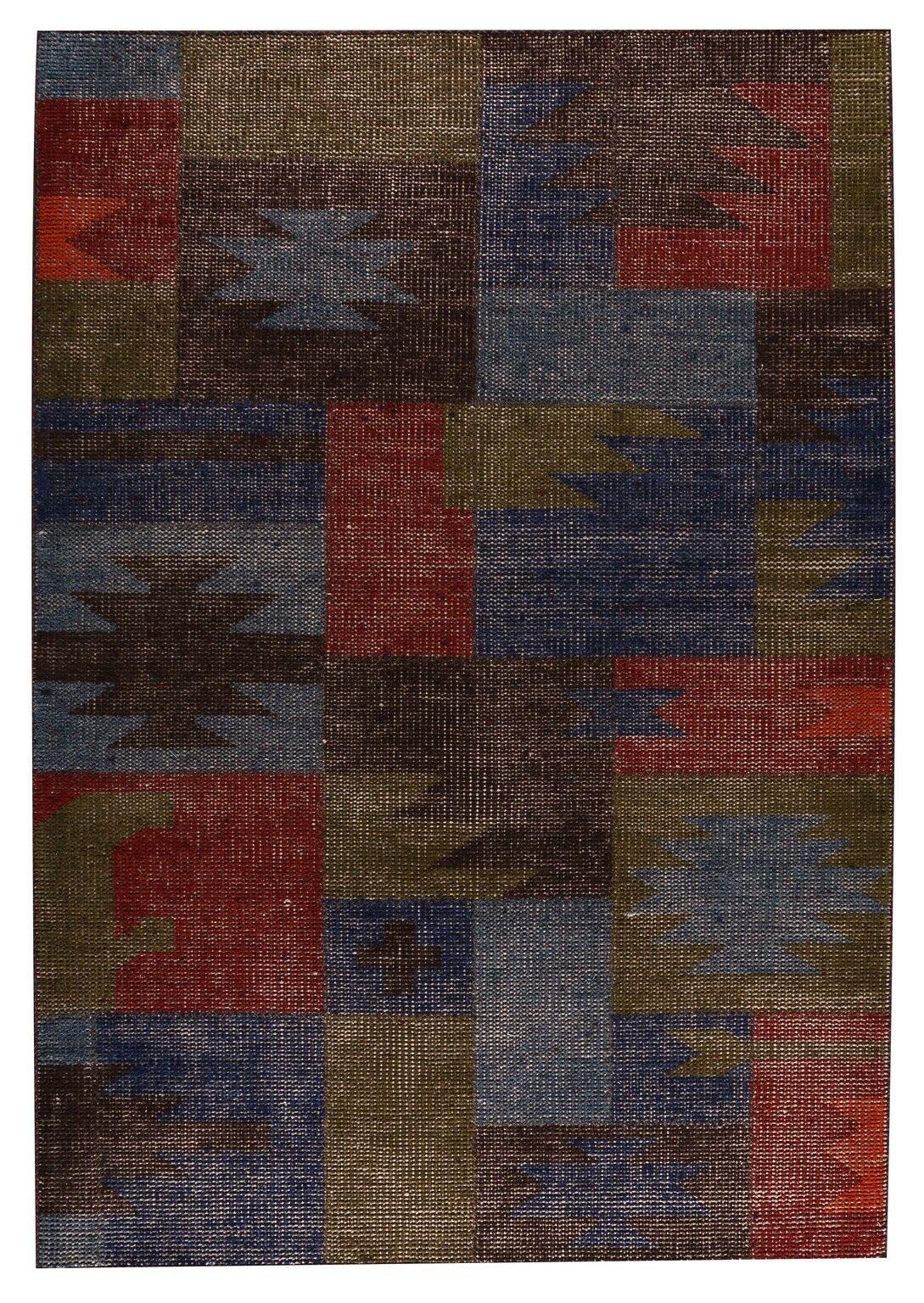 Lina classic Hand-Woven Brown/Gray Area Rug Rug Size: 5'6