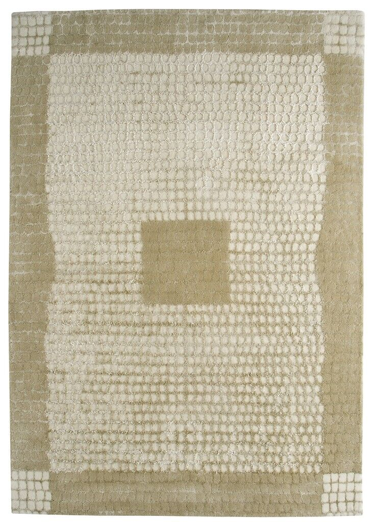 Marrakesh Hand-Tufted Caramel/White Area Rug Rug Size: 5'6