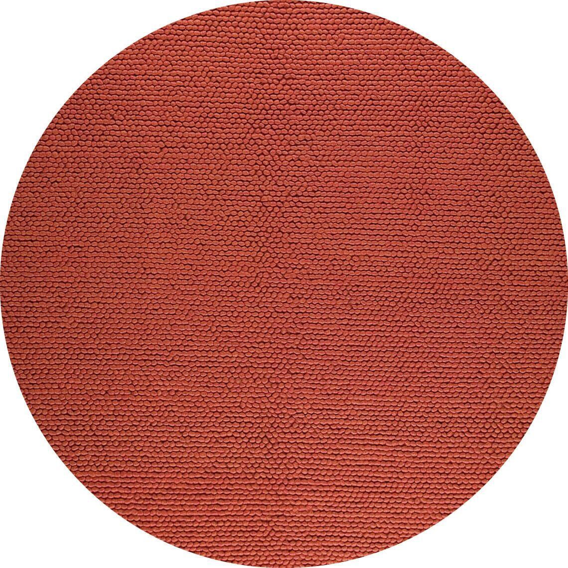 Hoefer Hand-Woven Orange Area Rug