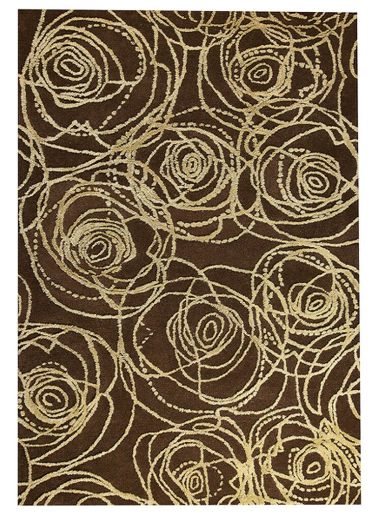 Rosa Hand-Tufted Brown/Beige Area Rug Rug Size: 5'2
