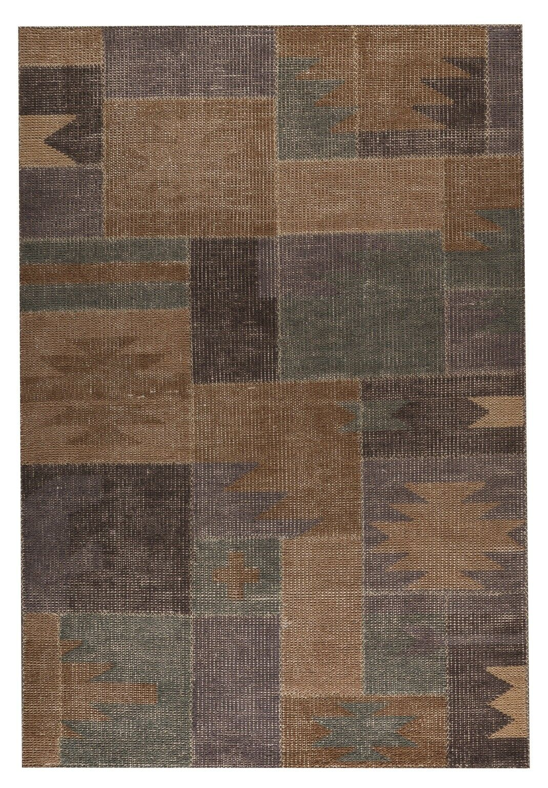 Lina classic Hand-Woven Silver Sage Area Rug Rug Size: 5'6