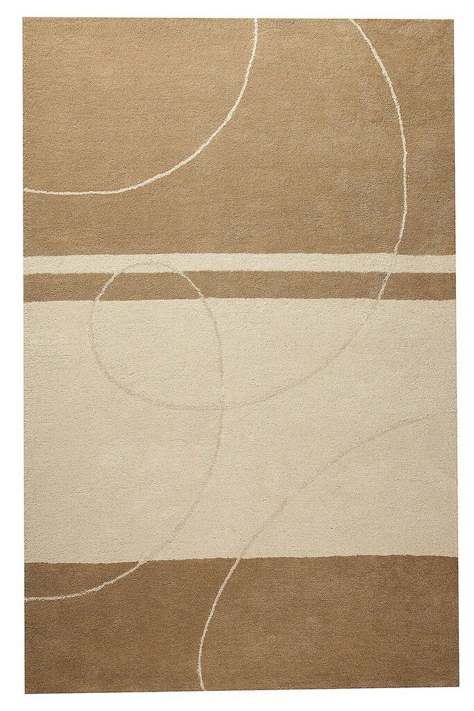 Trenza Hand-Tufted Beige Area Rug Rug Size: 5' x 7'