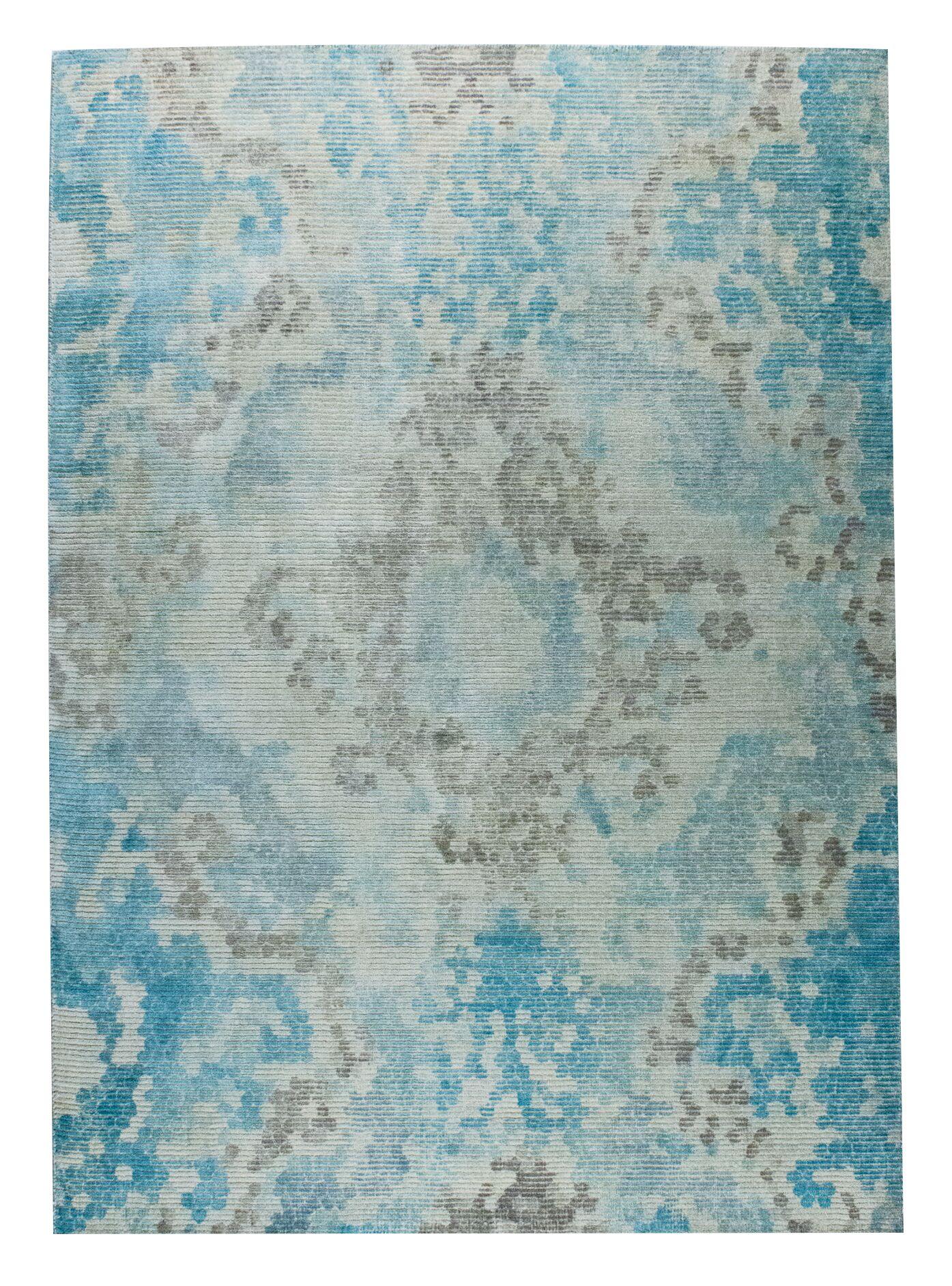 Omaha Hand-Woven Blue/Beige Area Rug Rug Size: 9' x 12'