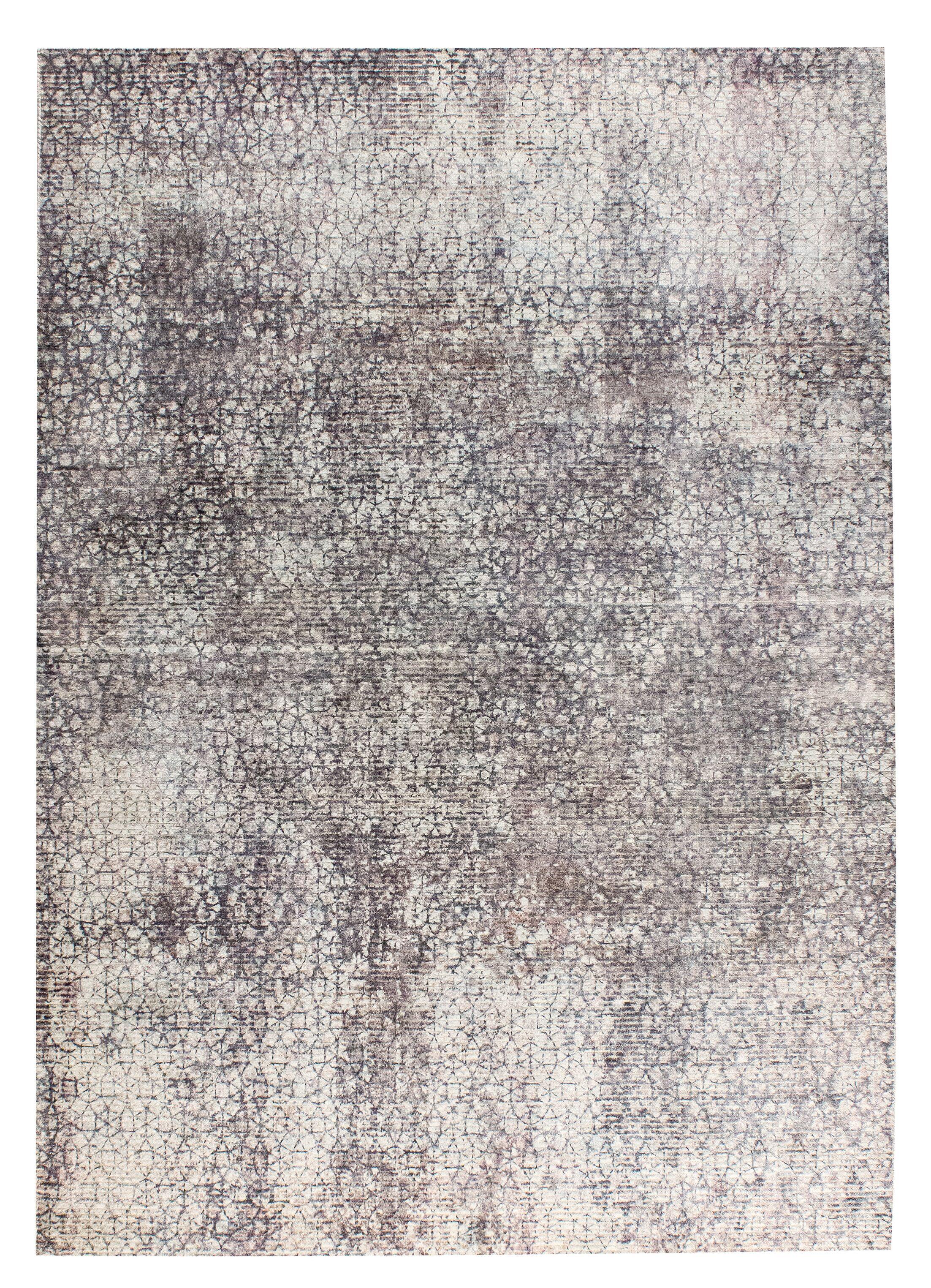 Monza Hand-Woven Gray/Beige Area Rug Rug Size: 8' x 10'