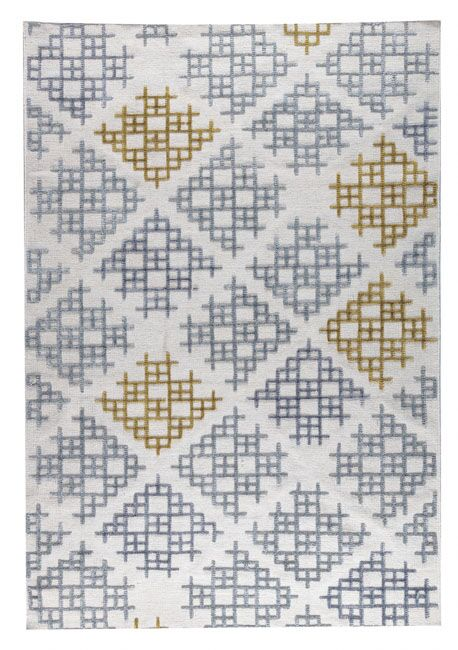 Lowell Hand-Woven Gray/Gold Area Rug Rug Size: 4' x 6'