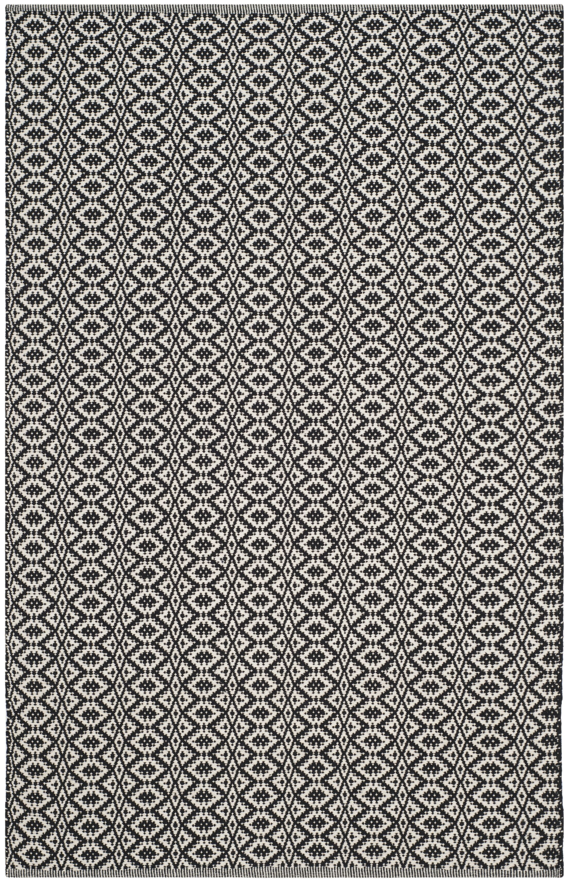 Whyte Hand Woven Ivory/Black Area Rug Rug Size: Rectangle 4' x 6'