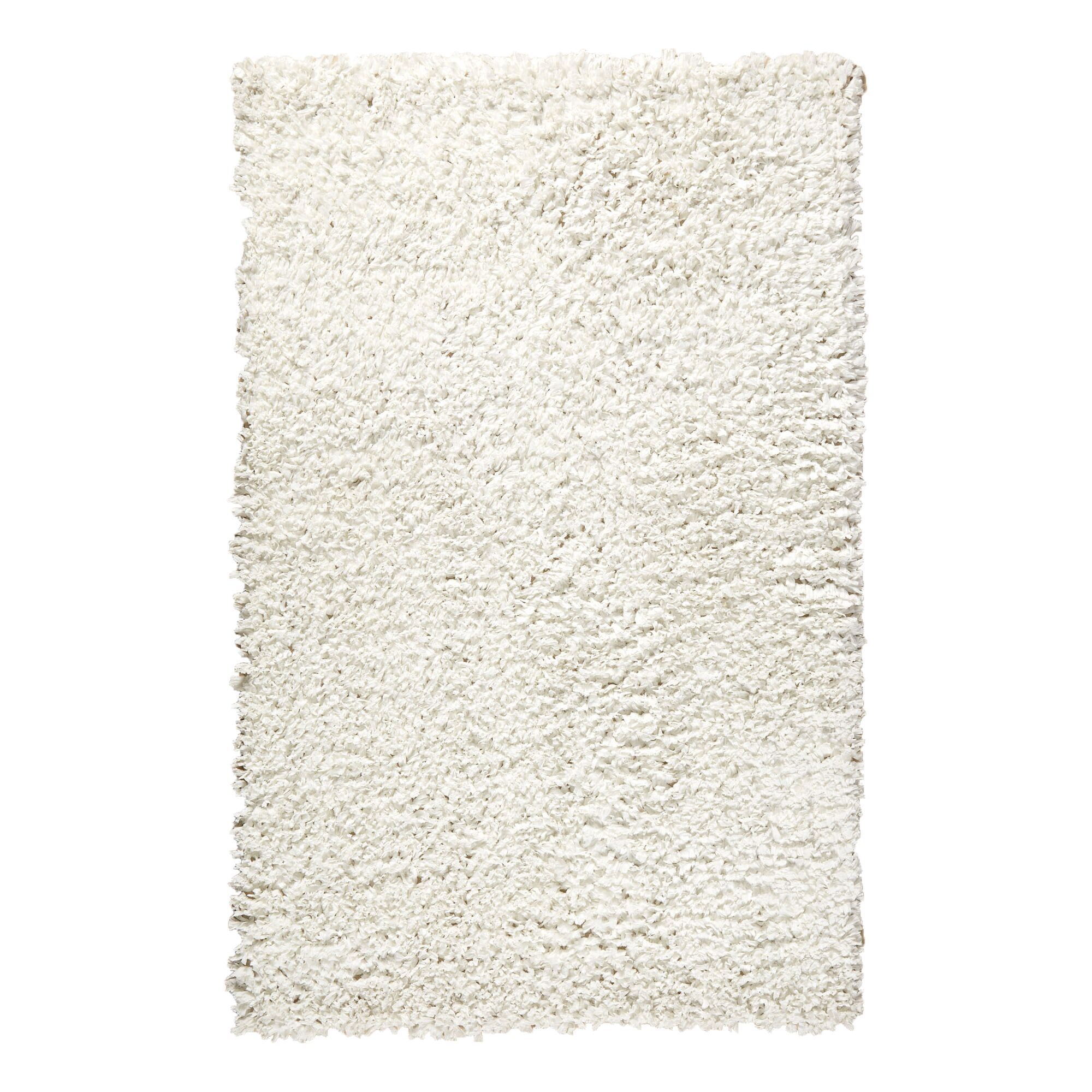 Shag Hand-Tufted Cream Area Rug Rug Size: 3' x 5'