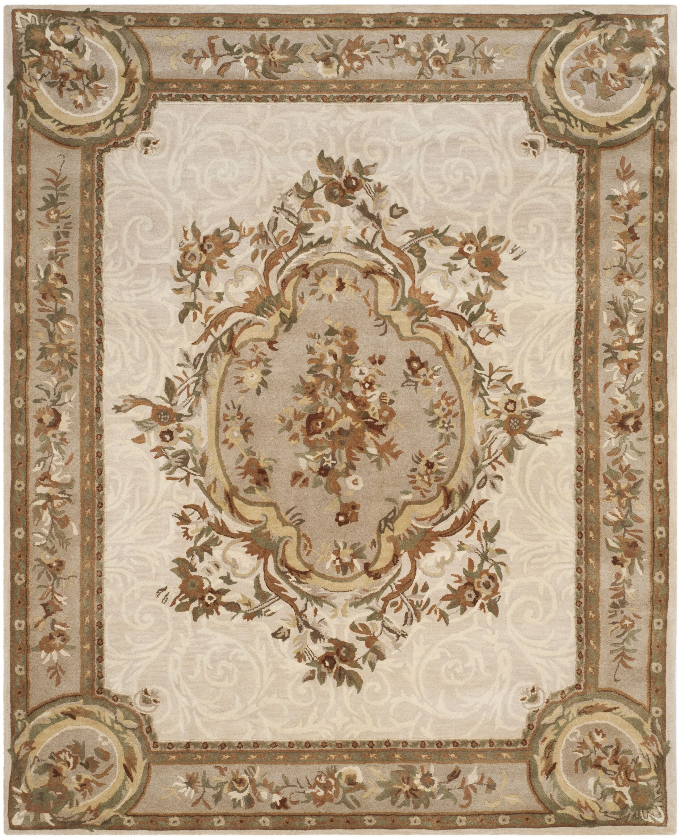 Atlasburg Hand-Tufted Wool Ivory Area Rug Size: Runner 2'6