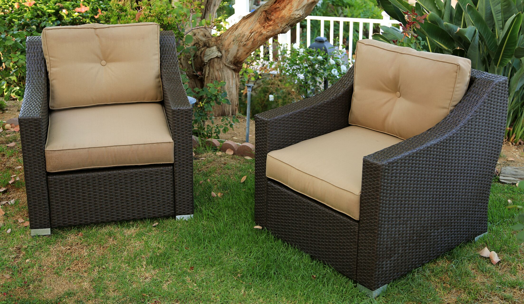 Tampa 2 Piece Conversation Set with Cushions