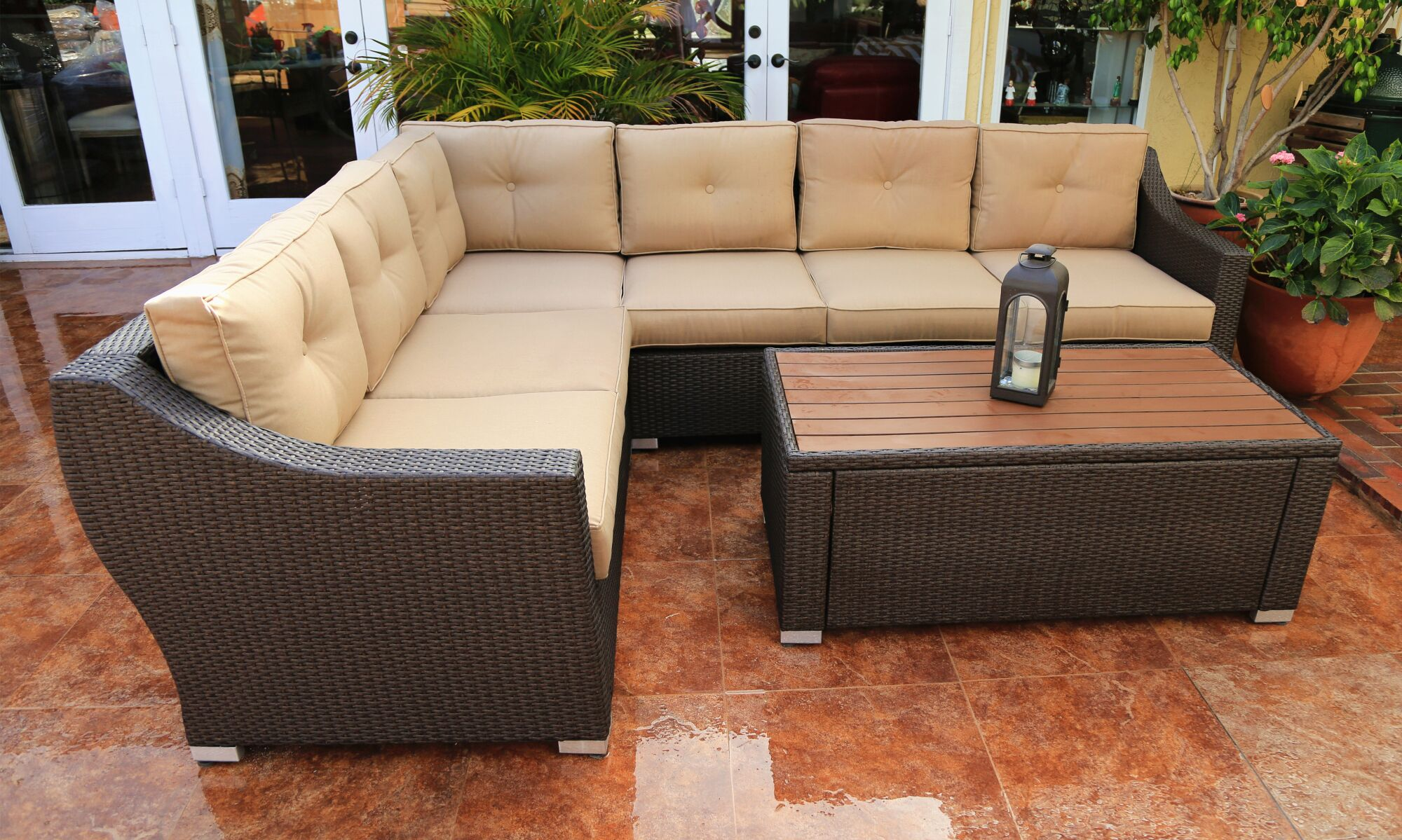 Tampa 7 Piece Sectional Seating Group with Cushions