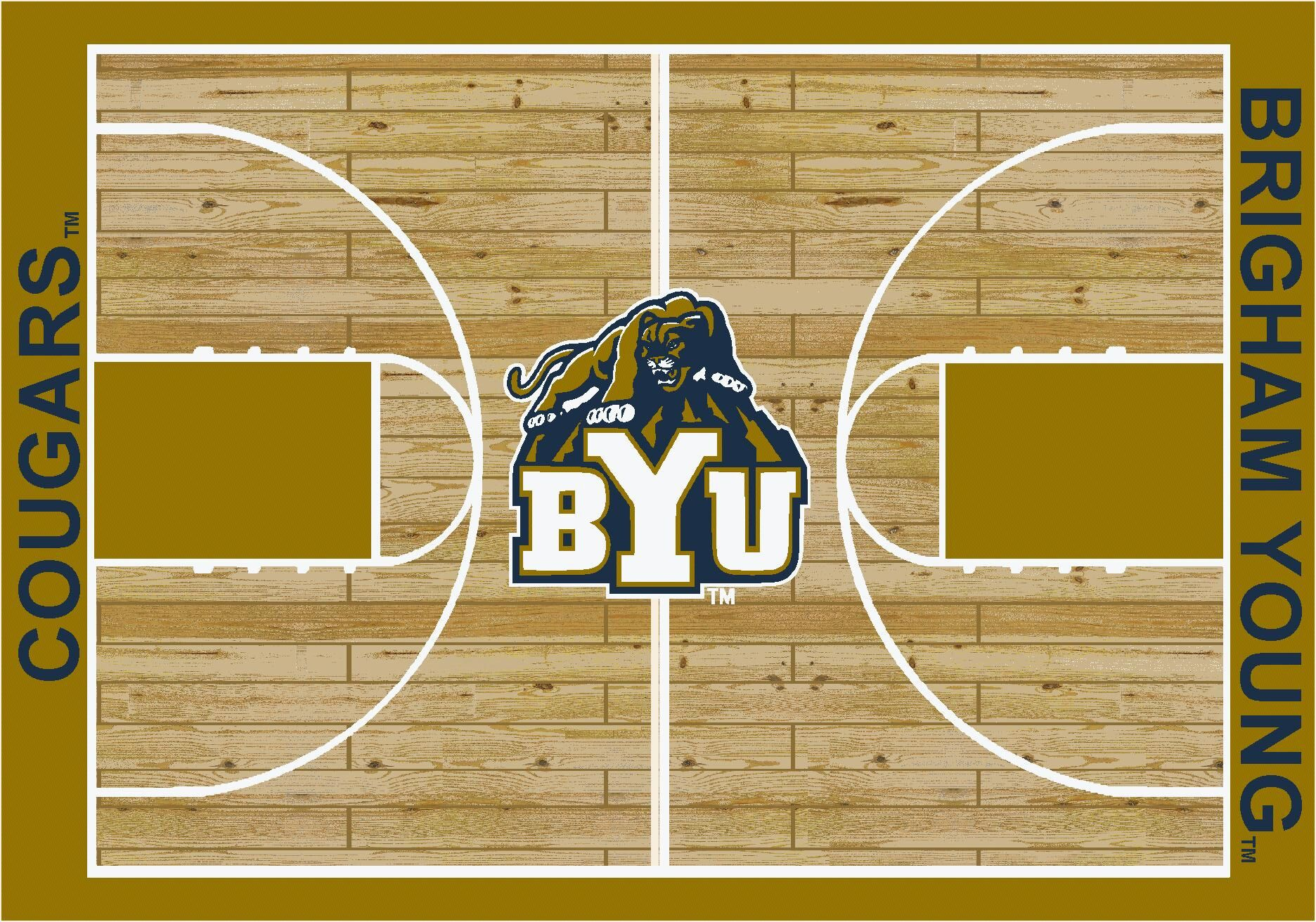 NCAA College Home Court Brigham Young Novelty Rug Rug Size: Rectangle 7'8