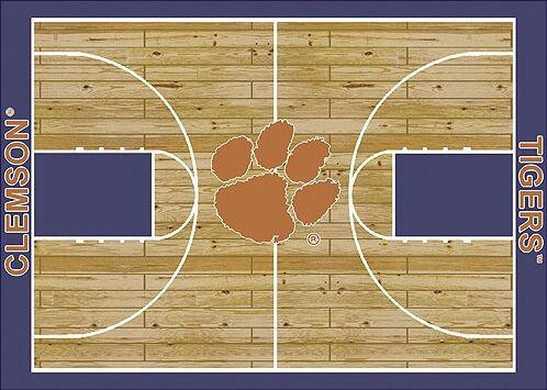 NCAA College Home Court Clemson Novelty Rug Rug Size: Rectangle 10'9