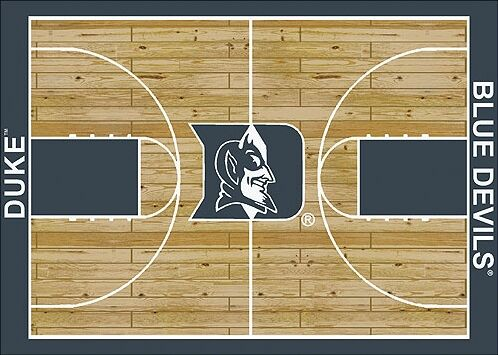 NCAA College Home Court Duke Novelty Rug Rug Size: Rectangle 5'4