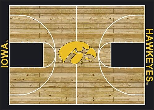 NCAA College Home Court Iowa Novelty Rug Rug Size: Rectangle 5'4
